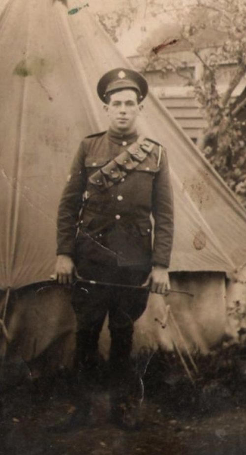 Photograph of Timmy Hartnett (kindly provided by his family) dressed in his army uniform.