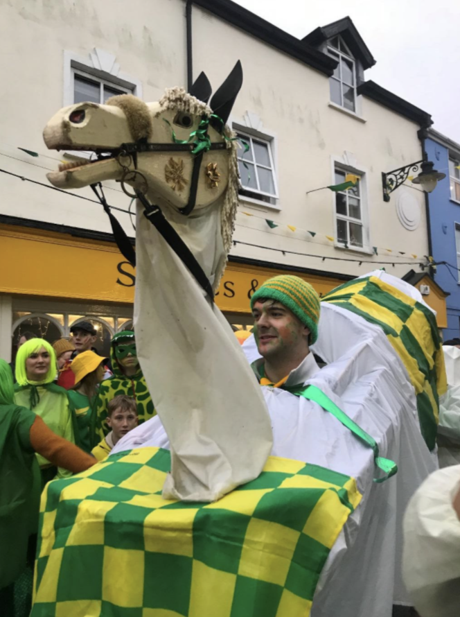 Hobby Horse of the Green & Gold Wran in Dingle